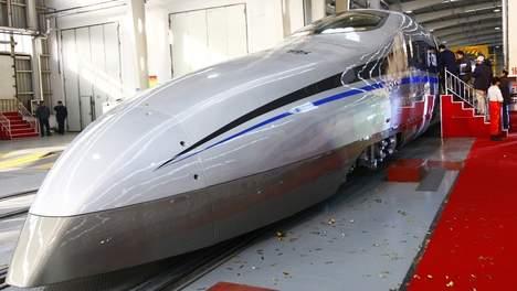 Chinese Maglev trein op het spoor