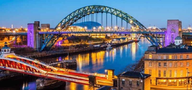 Trein naar Newcastle