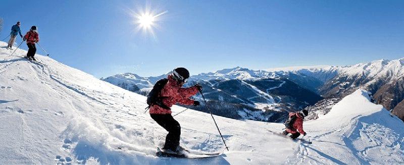 Trein naar wintersport