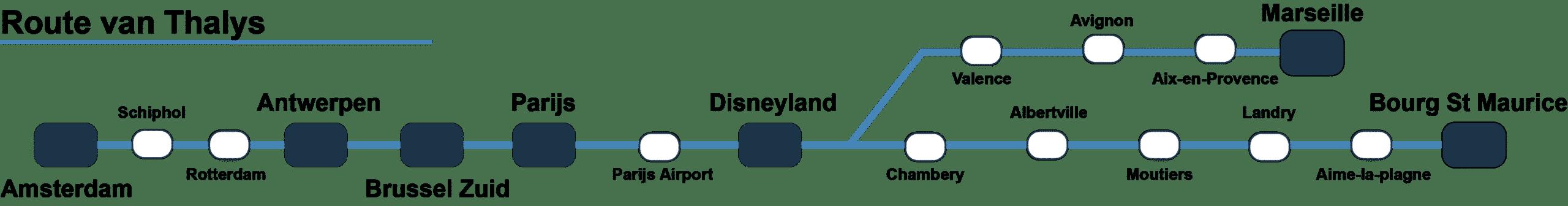 Route Thalys naar Vielsalm