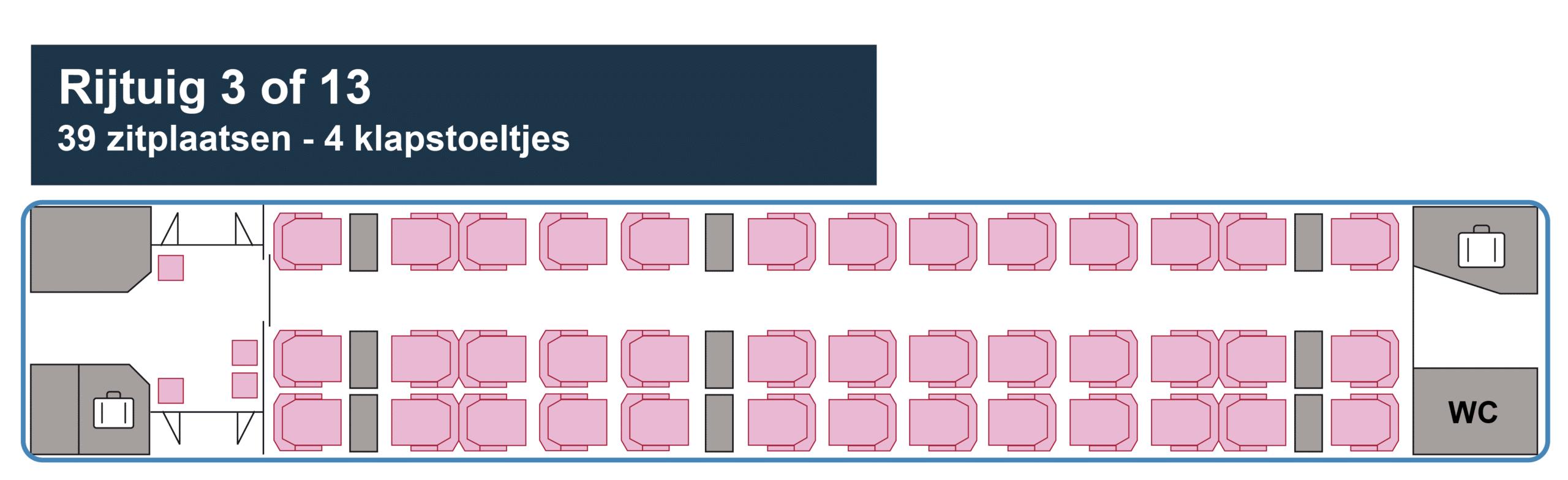 Thalys Eerste Klas rijtuig 3